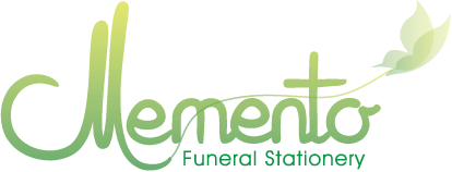 Memento Funeral Stationary